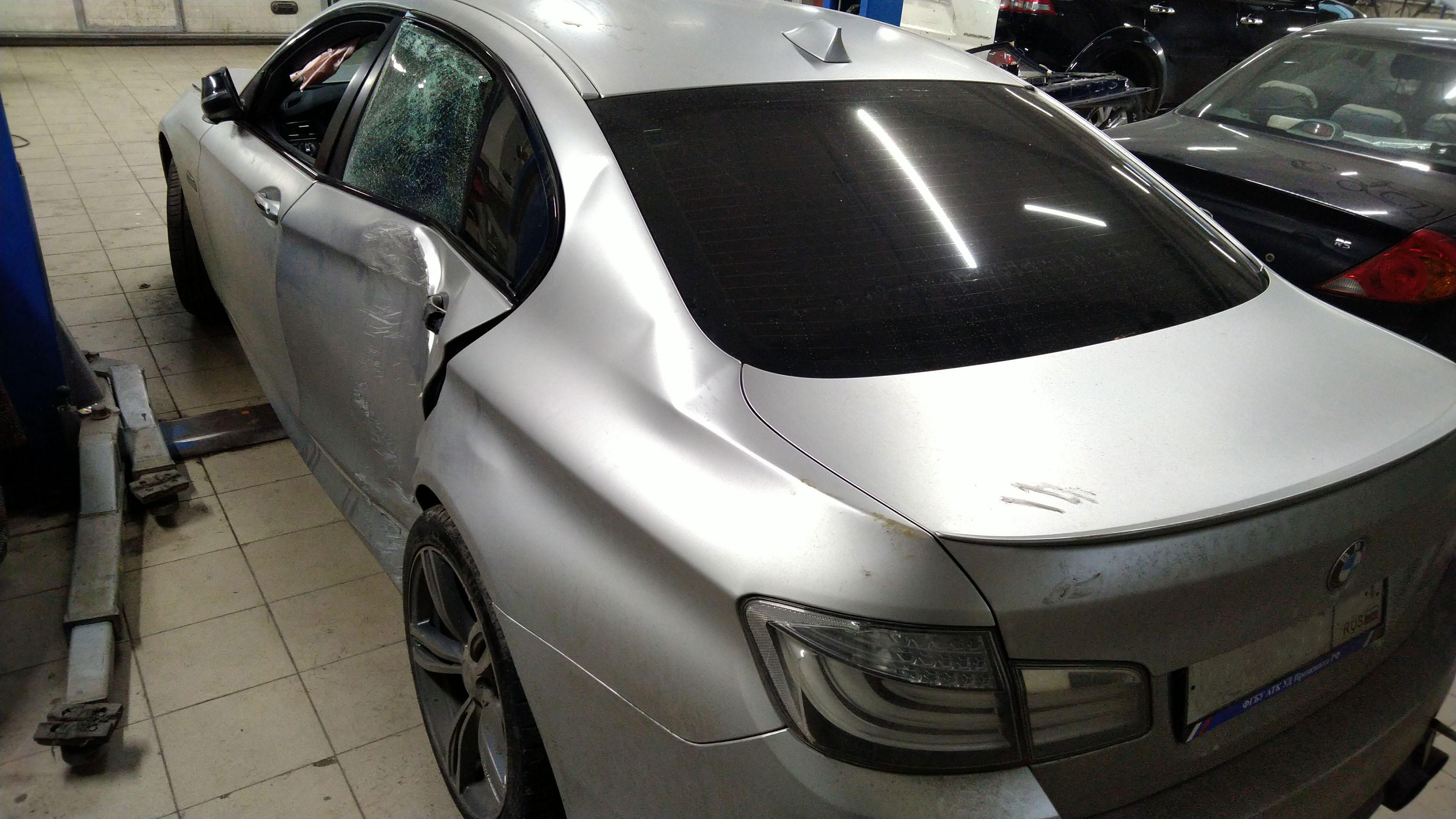 Кузовной ремонт BMW 5 Series в Люберцах с восстановлением геометрии задней части