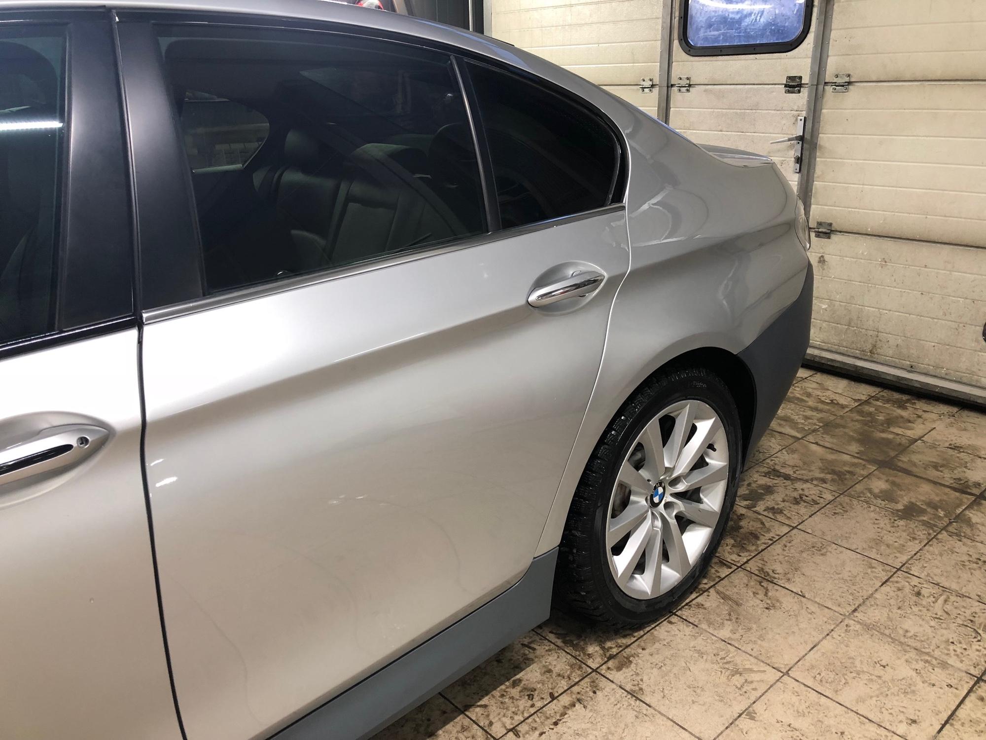 Восстановленный после серьезной аварии BMW 5 Series