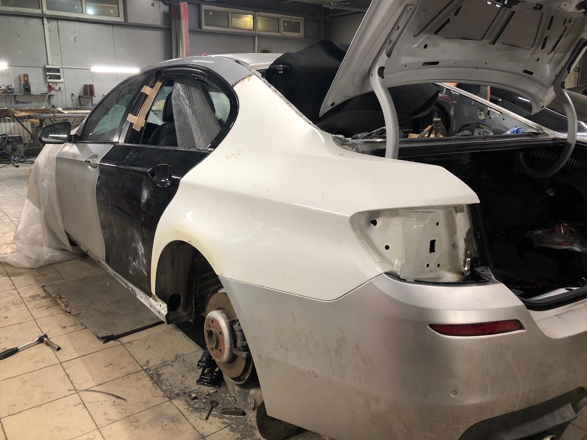 BMW 5 Series перед покраской