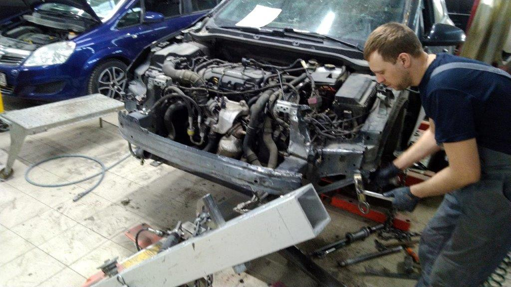 Стапельные работы Opel Astra J