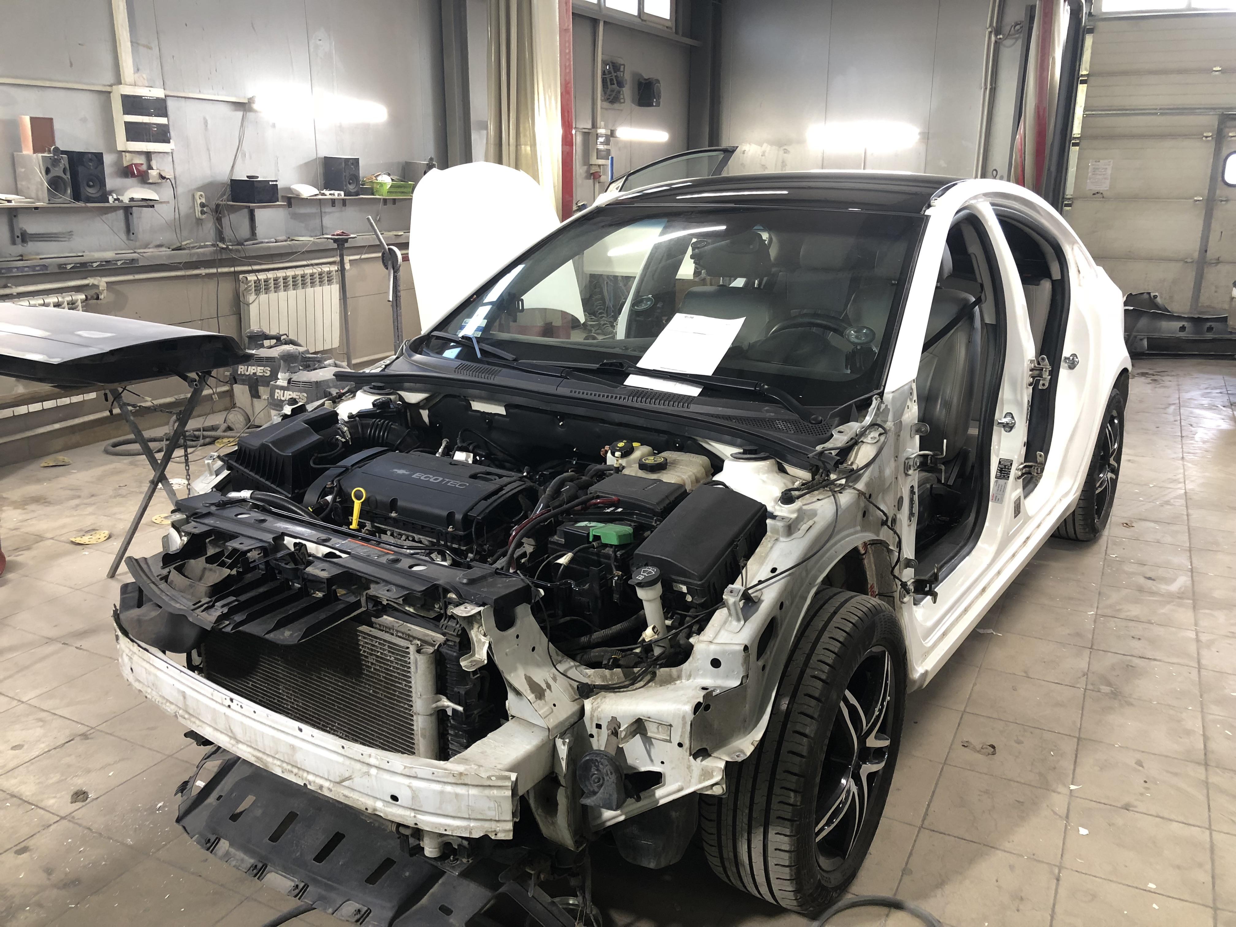 Голый кузов Шевроле круз для подготовке покраске кузова