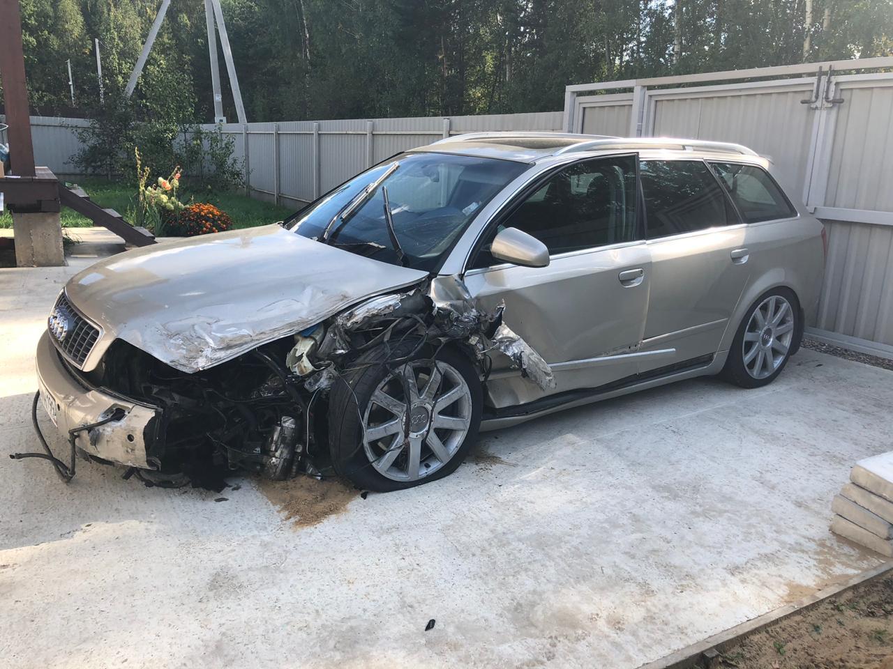Повреждения Audi A4 Avant