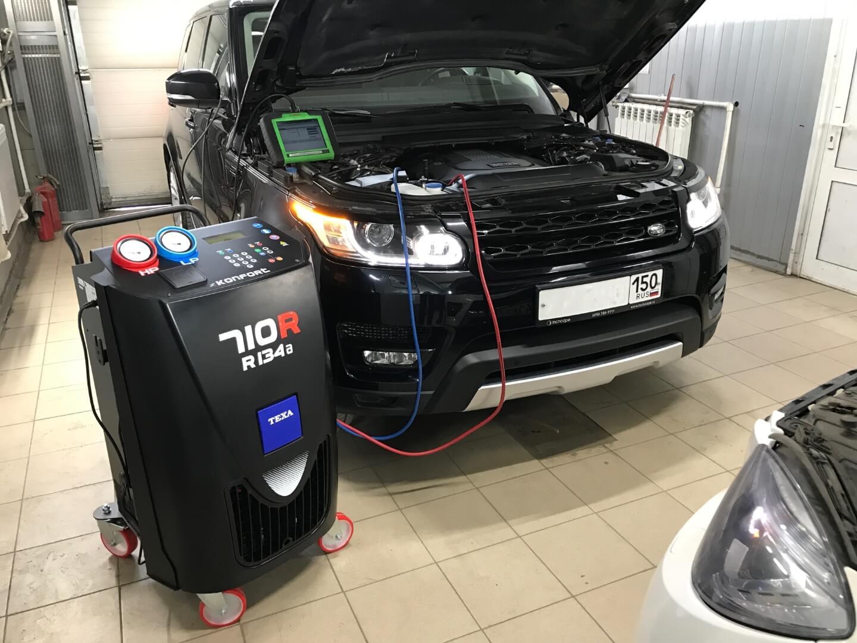 Range Rover Sport заправка автокондиционера