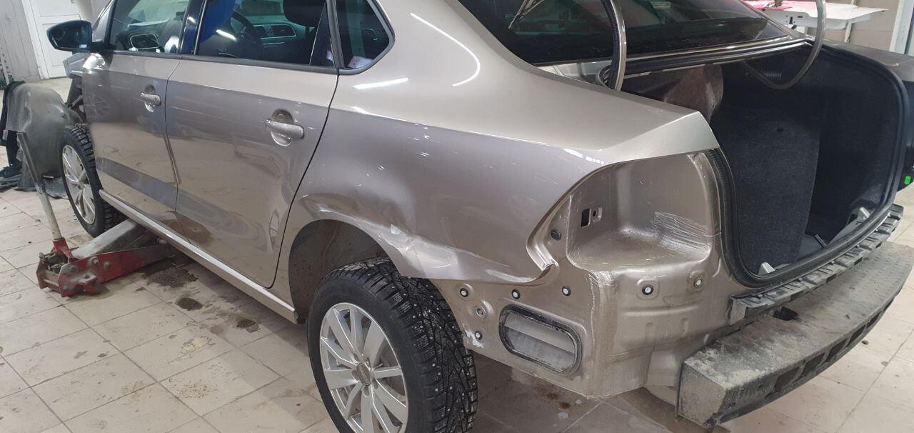 Кузовной ремонт VW polo в Люберцах